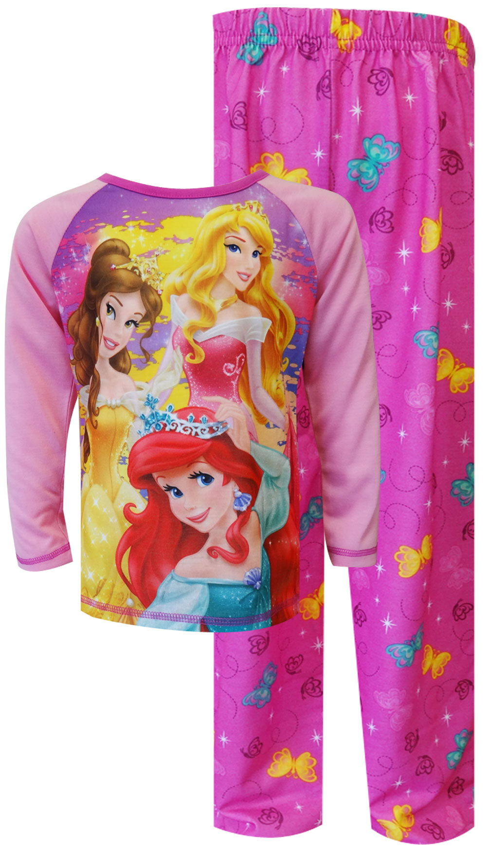Image of Disney Princesses Ariel, Sleeping Beauty and Belle Pajamas for girls