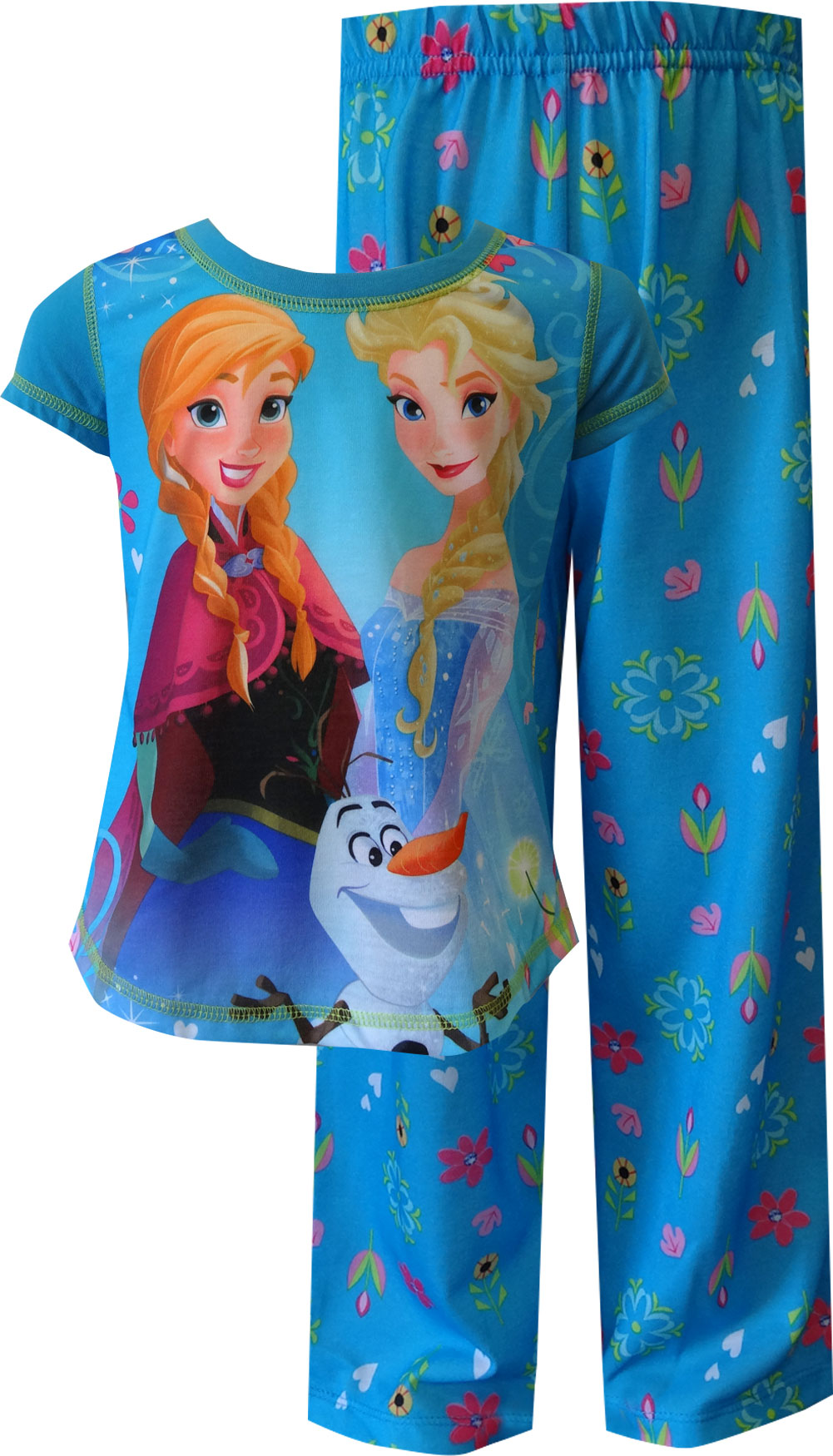 Image of Disney Frozen Princesses Elsa, Anna and Olaf Triple Fun Pajama for girls