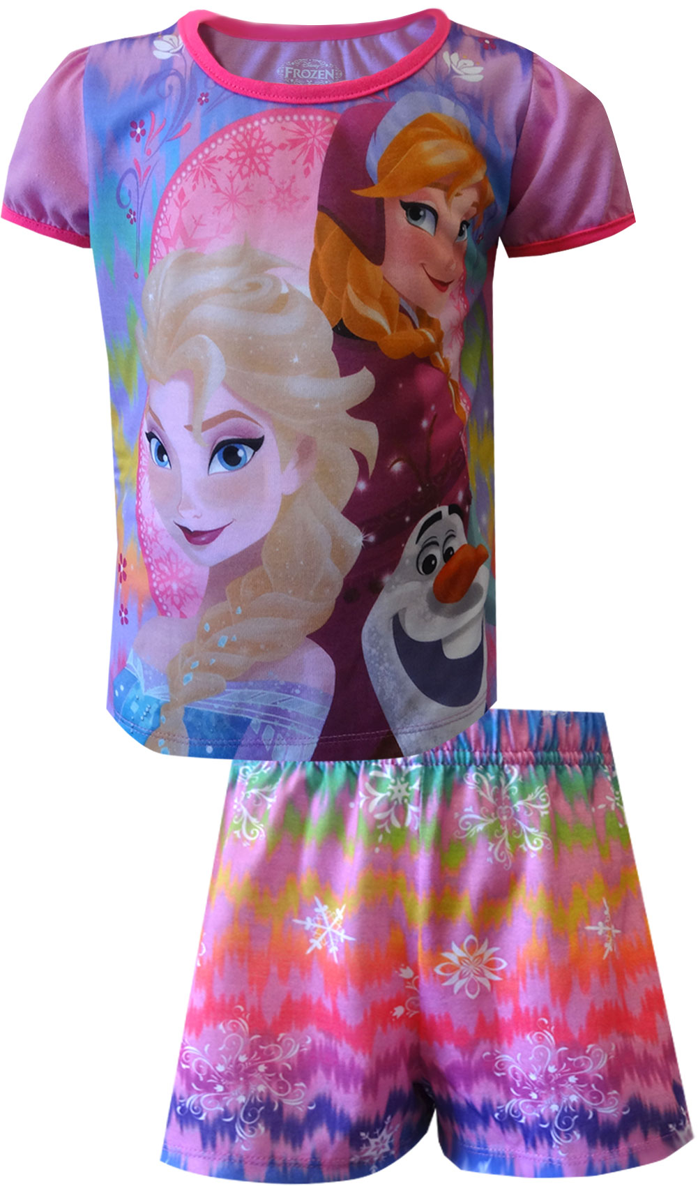 Image of Disney Frozen Fever Princesses Elsa and Anna Shortie Pajama for girls