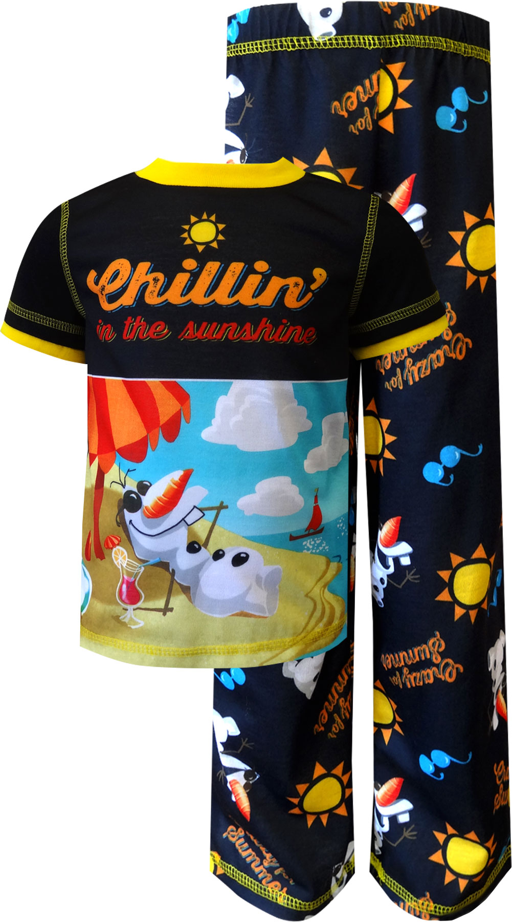 Image of Disney Frozen Olaf Chillin' In The Sunshine Toddler Pajama for boys