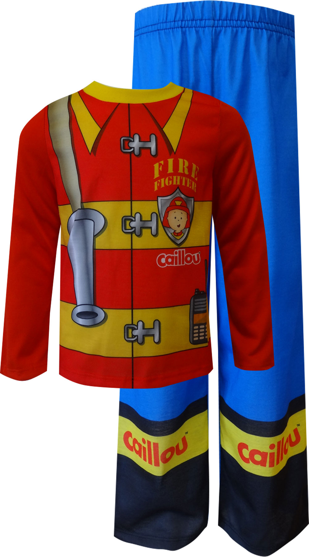 Image of Caillou Fire Fighter Uniform Toddler Pajamas for boys