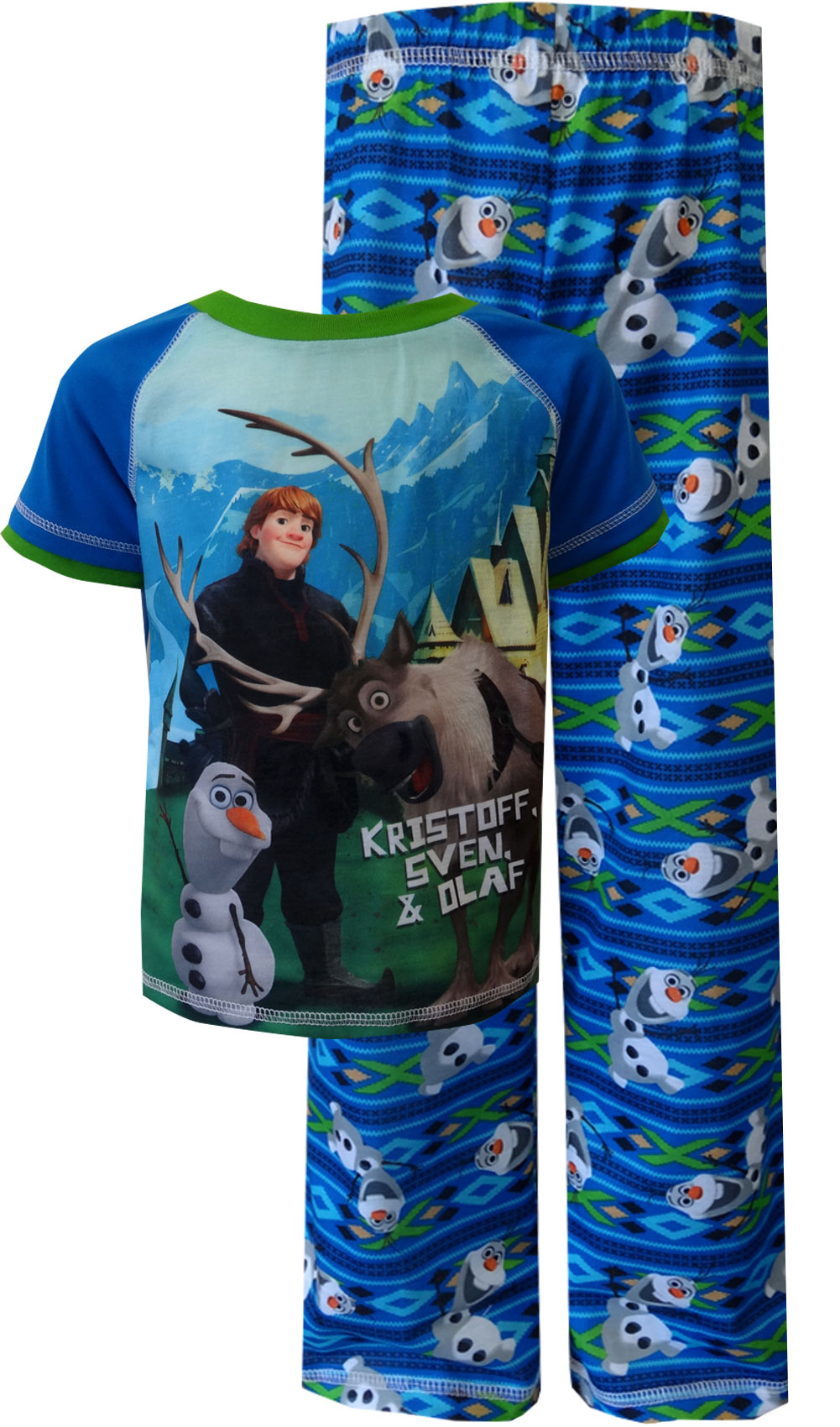 Image of Disney Frozen Olaf with Kristoff and Sven Pajama for boys