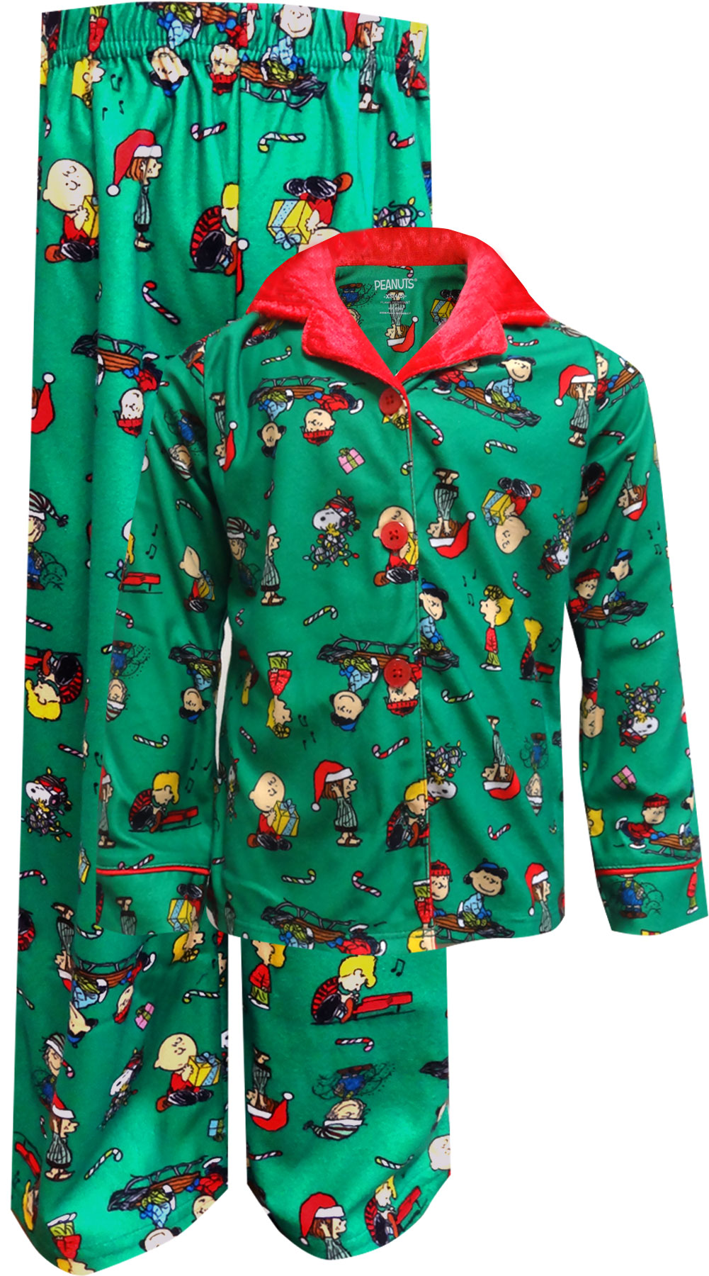 Peanuts Charlie Brown Christmas Traditional Girls' Pajama for girls