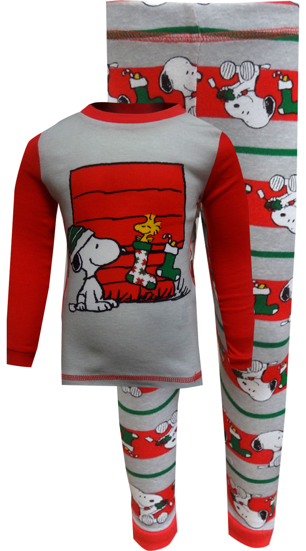 Image of Peanuts Snoopy and Woodstock Christmas Toddler Pajama for boys