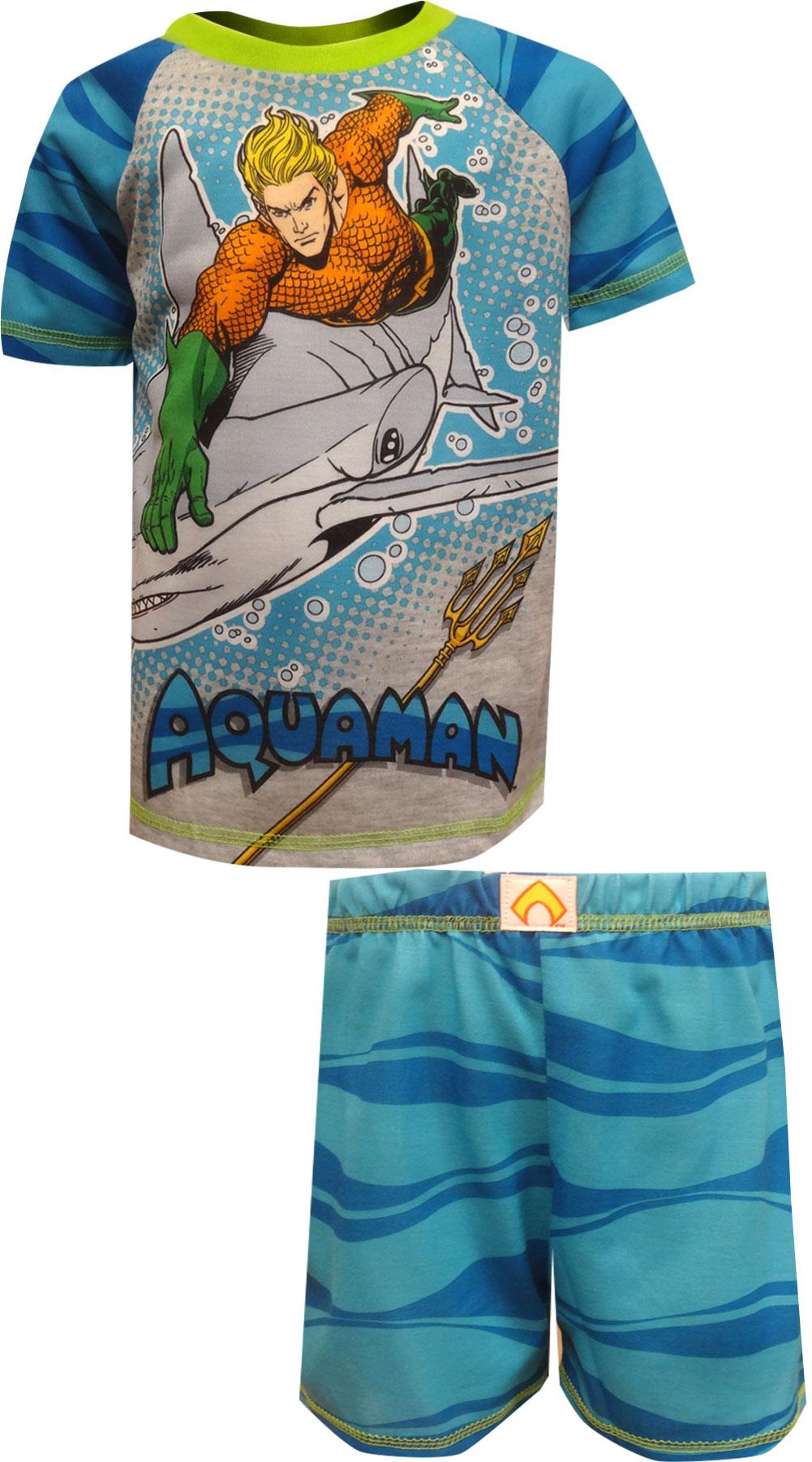 Image of DC Comics Aquaman Retakes Atlantis Boys Pajama with Shorts for boys