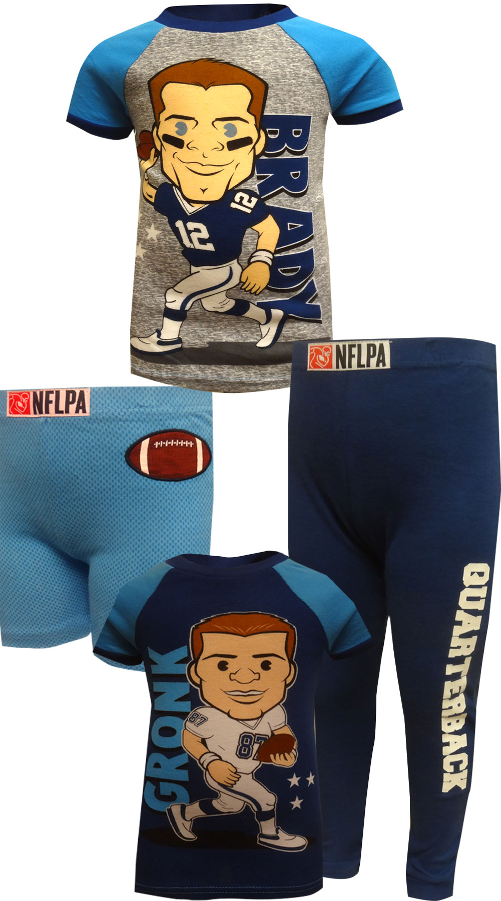 Image of New England Patriots Tom Brady and Rob Gronkowski Pajamas for boys