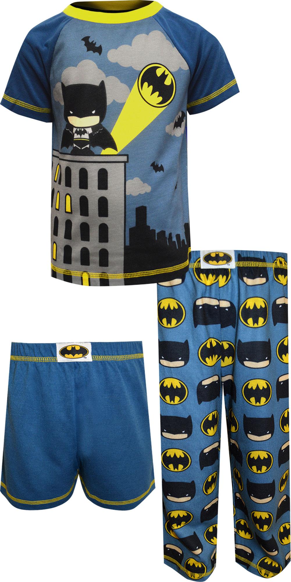 Image of DC Comics Batman Toddler 3 Piece Pajamas for boys
