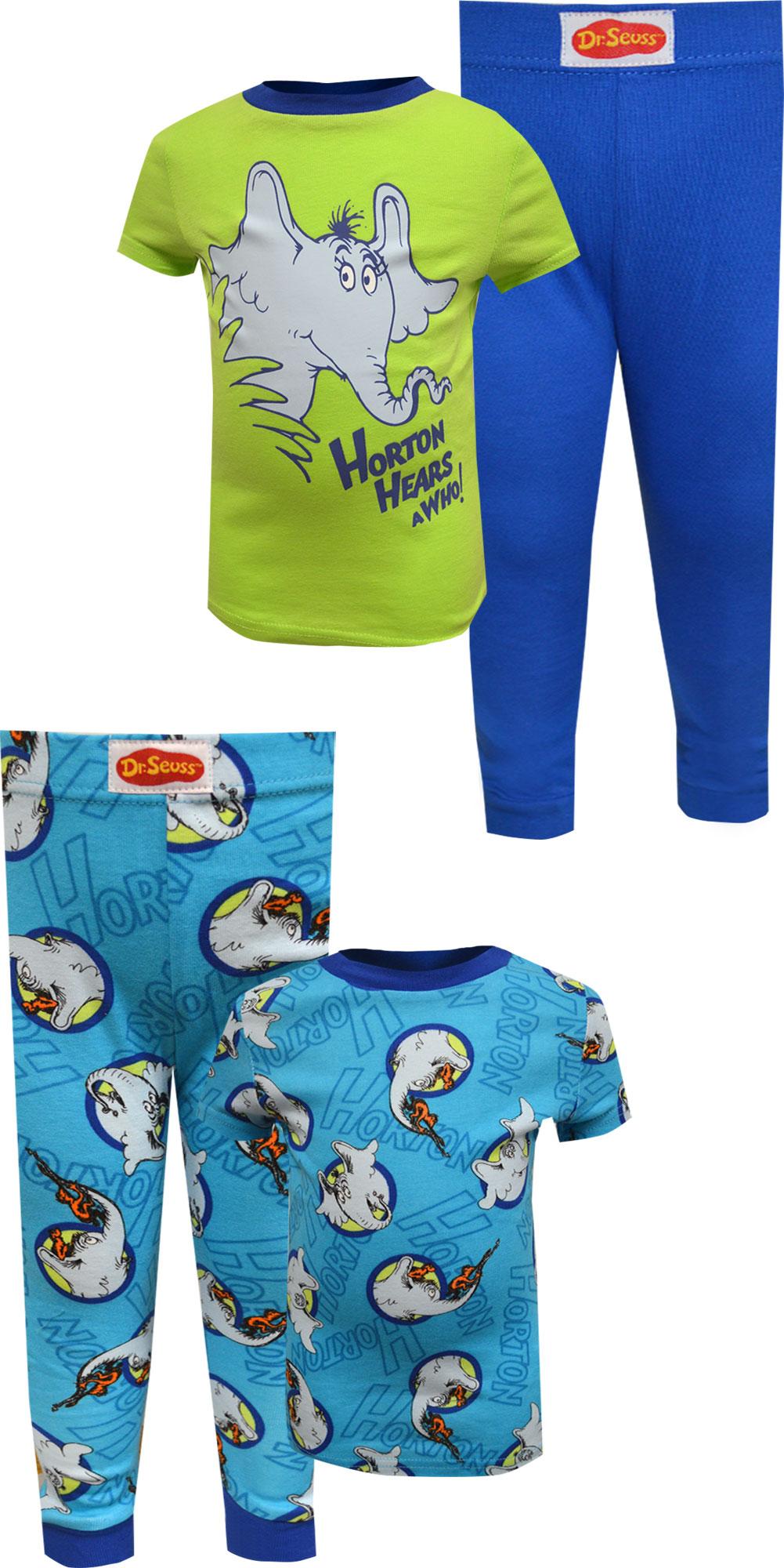 Image of Dr Seuss Horton Hears A Who Boys Infant 4 Piece Pajamas for boys