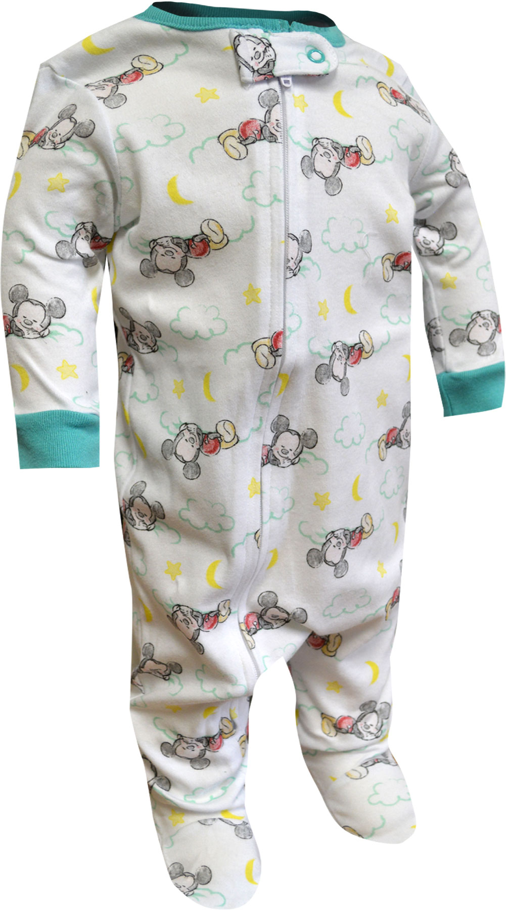 Image of Disney Baby Mickey Mouse Cotton Infant Cotton Sleeper for boys