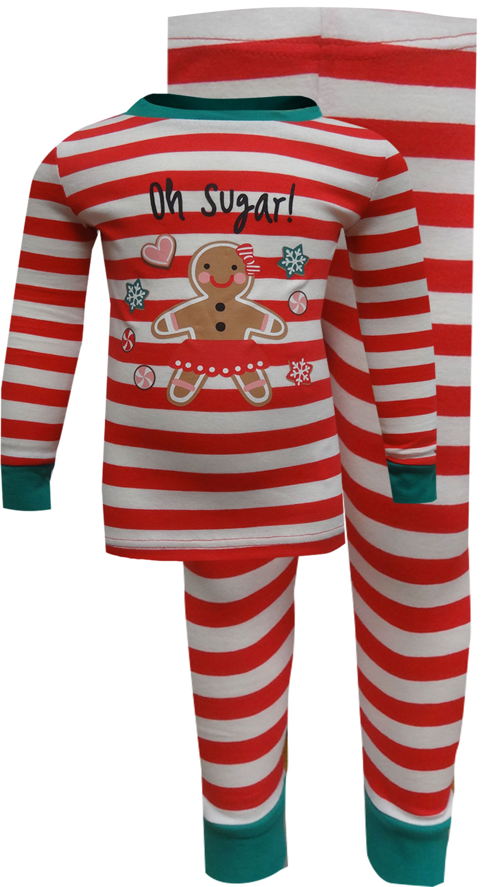 Image of Gingerbread Cookie Oh Sugar Christmas Pajama for girls