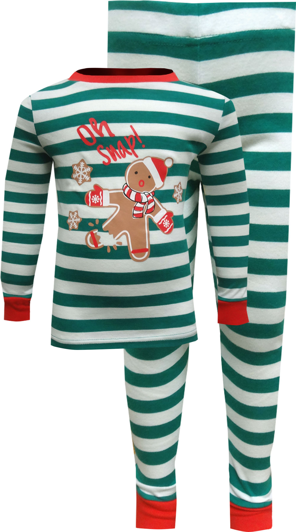 Image of Gingerbread Men Oh Snap Christmas Pajama for boys