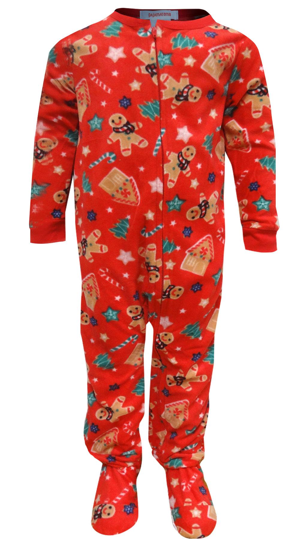 Image of Gingerbread Men Toddler Christmas Blanket Sleeper Pajama for boys