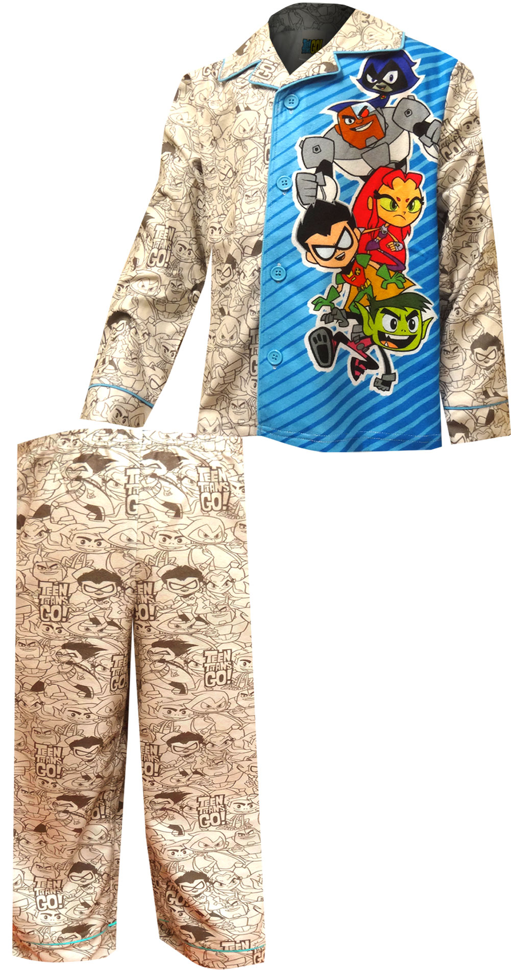 Image of DC Comics Teen Titans Modern Flannel Pajama for boys