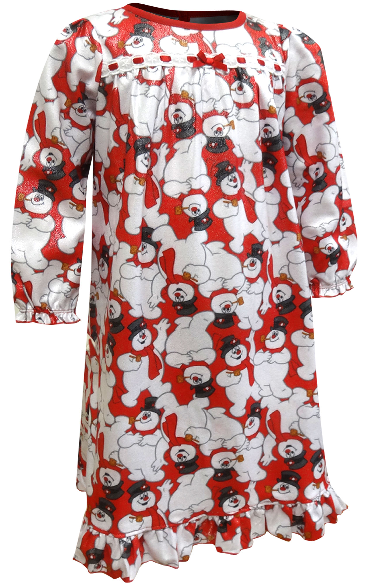 Image of Christmas Flannel Frosty the Snowman Nightgown for Toddler Girls