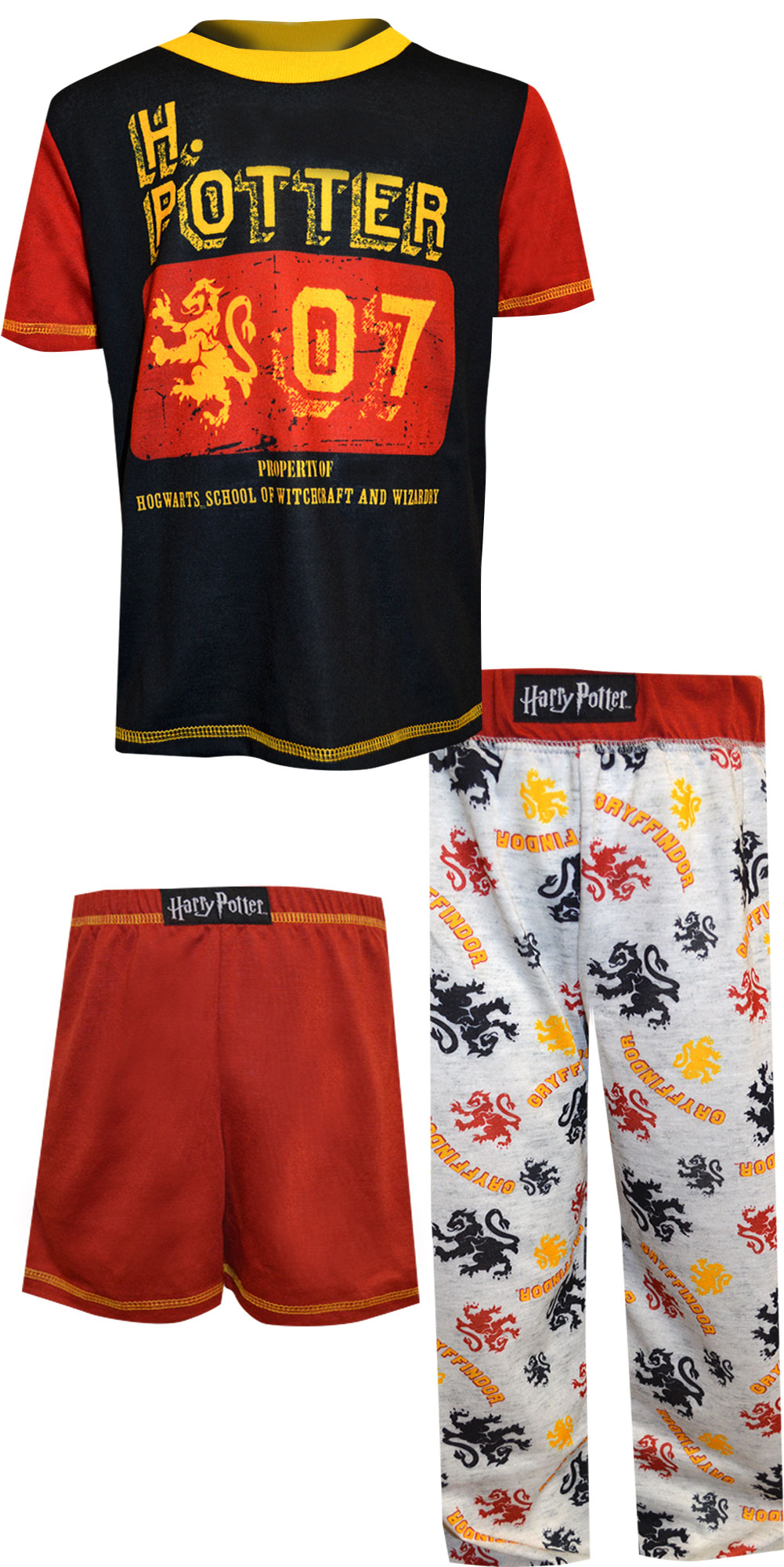 Image of Harry Potter Gryffindor 3 Piece Pajama for boys