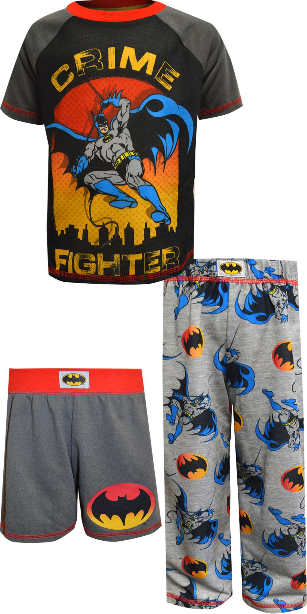 Image of DC Comics Batman Crime Stopper 3 Piece Pajamas for boys