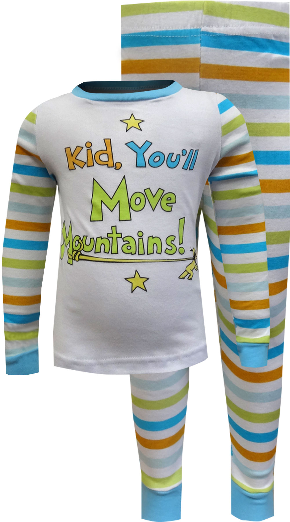 Image of Dr Seuss Kid, You'll Move Mountains Pajamas for boys