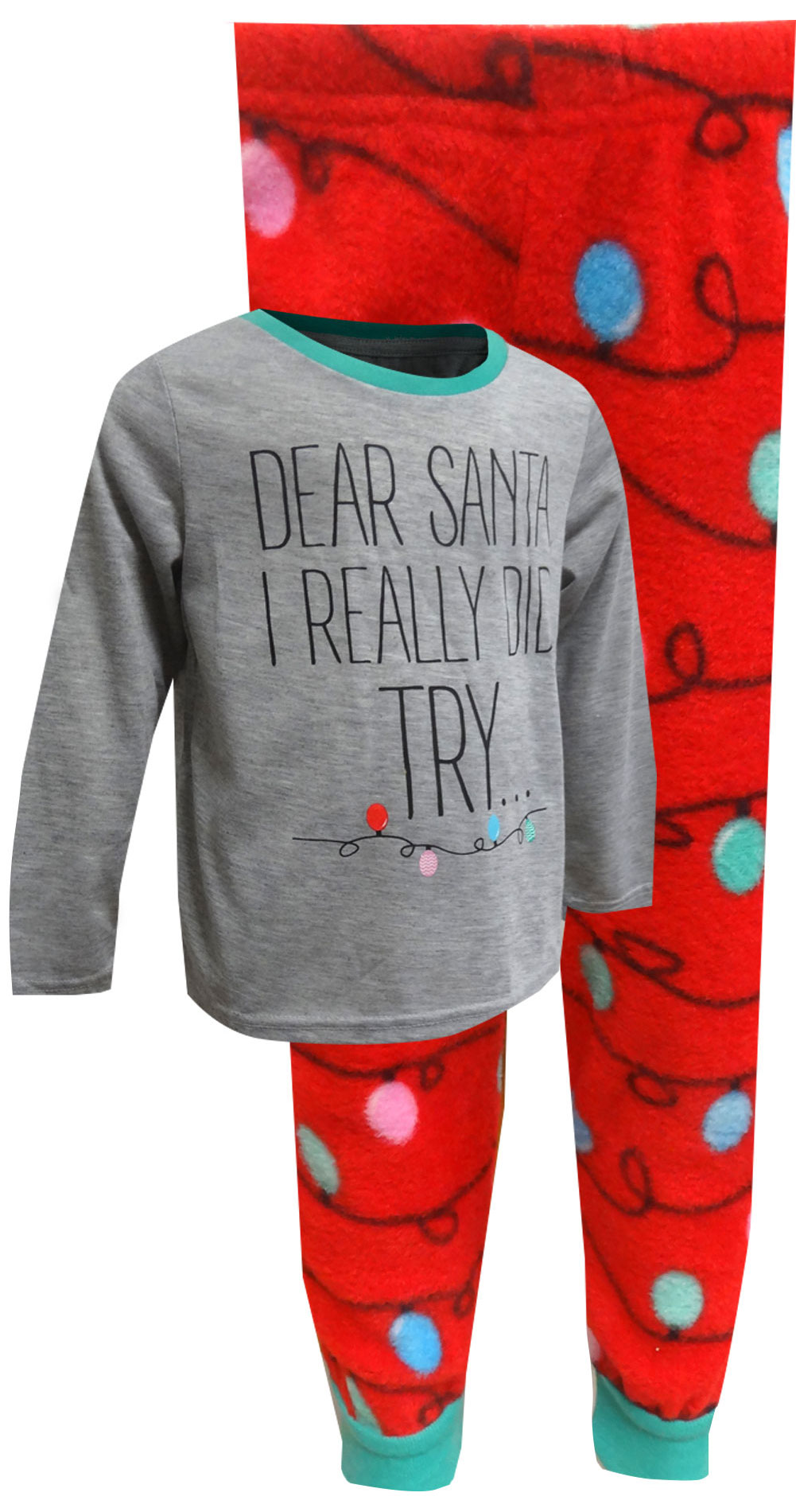Image of Dear Santa I Really Did Try Christmas Kids Pajama for boys
