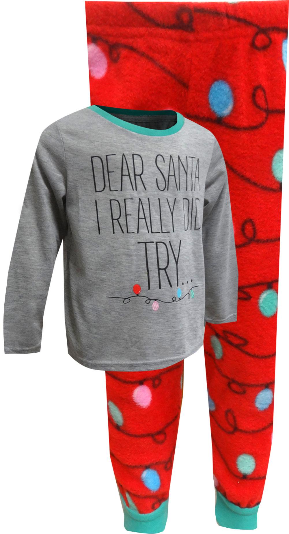 Image of Fun Dear Santa Christmas Pajamas for Boys