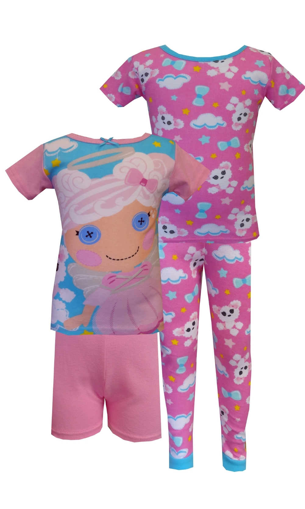 Lalaloopsy Cloud E. Sky & Puffy Poodle 4 Piece PJ Set for girls