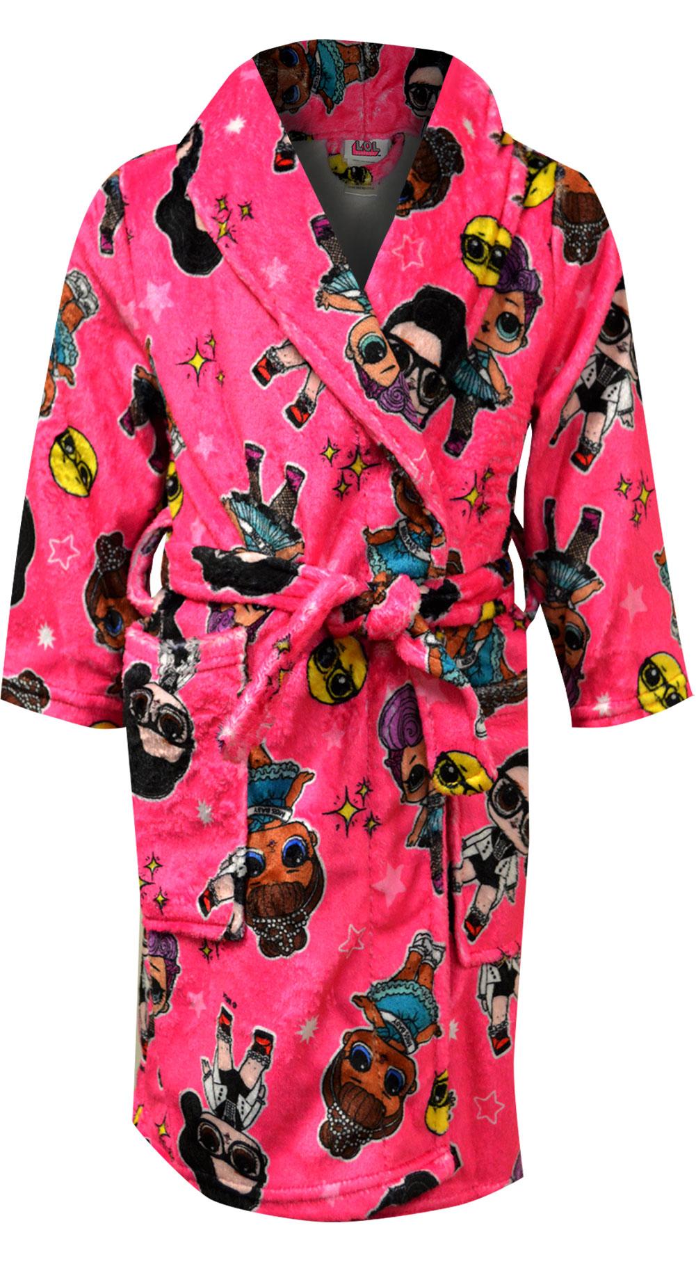 Image of LOL Surprise Pink Plush Robe for girls