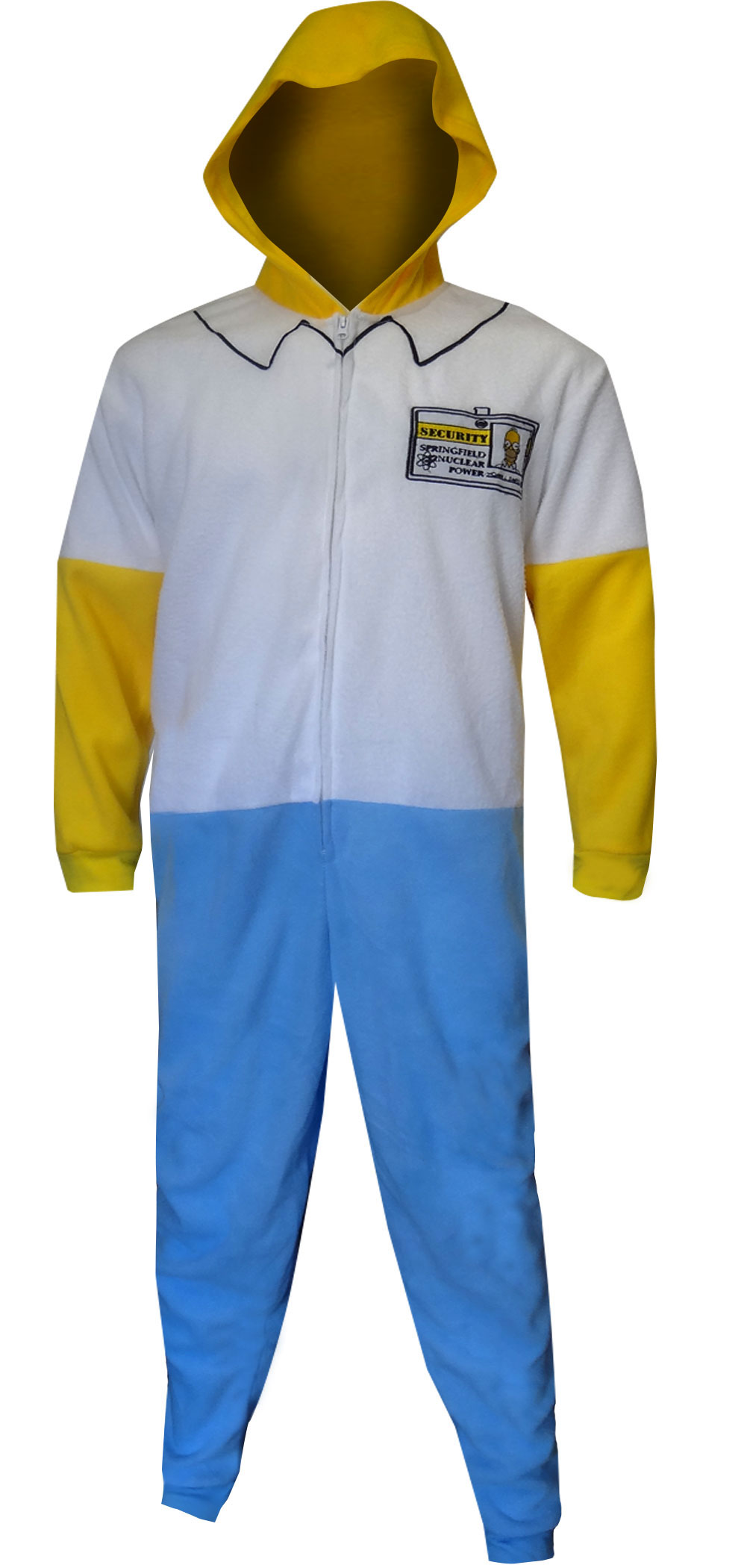 Image of Homer Simpson Fleece One Piece Union Suit for men