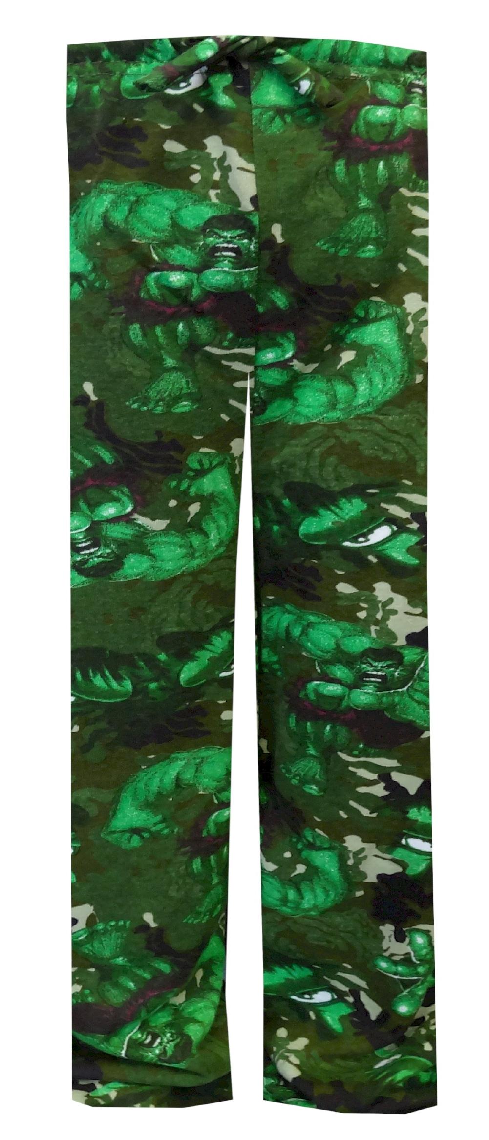 Image of Incredible Hulk Green Camo Pajama Pants for Boys for boys