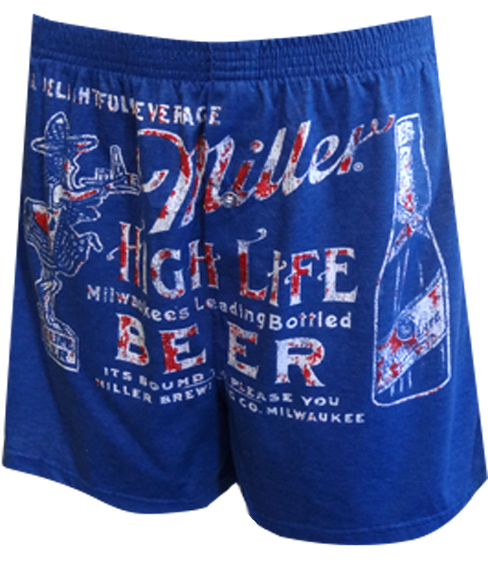 Miller Beer Stacked Boxers for men