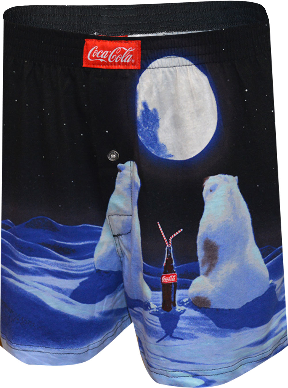 Image of Coca Cola Bears in the Moonlight Boxer Shorts for men