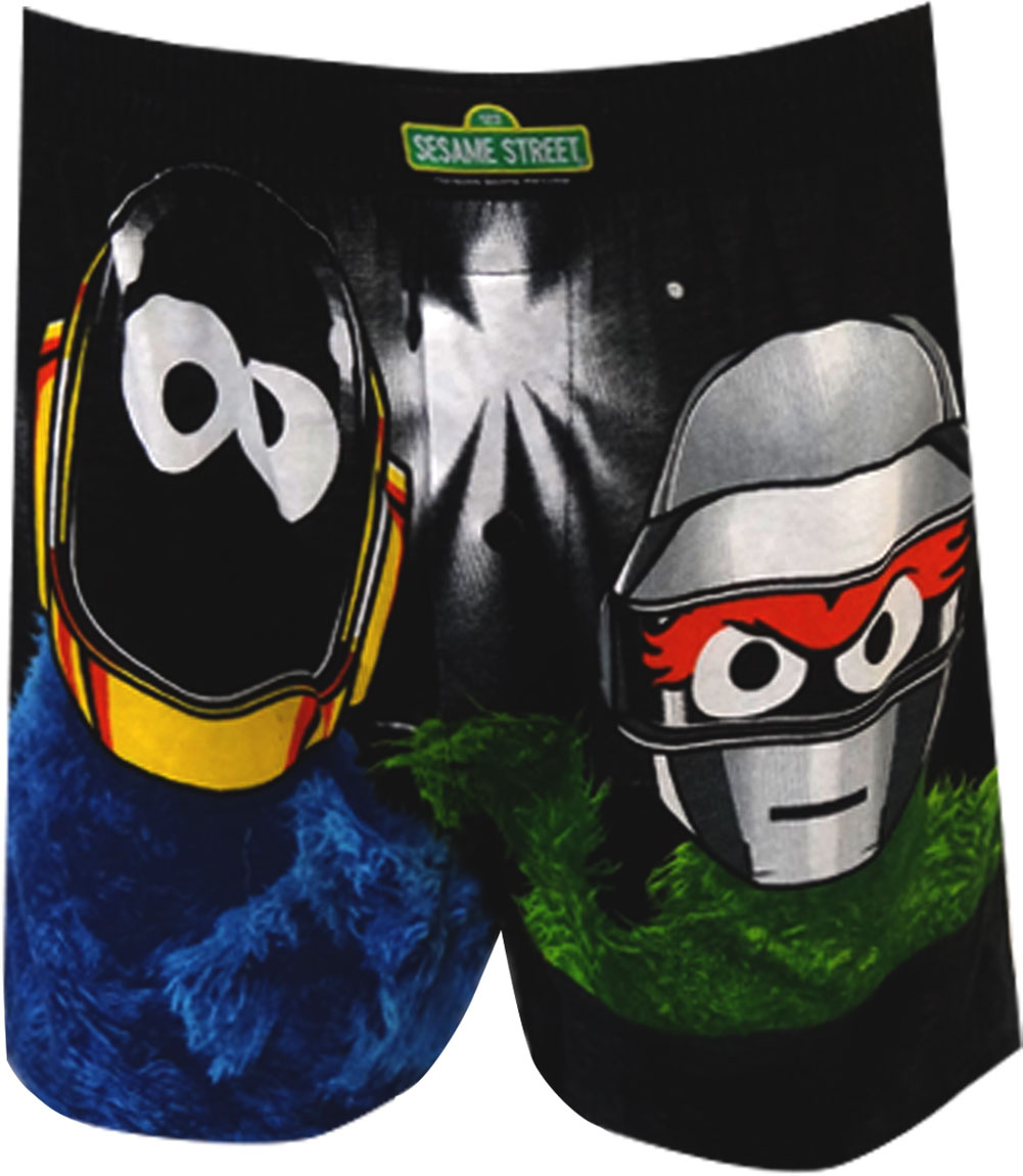 Sesame Street Cookie And Oscar Up All Night Boxer Shorts for men