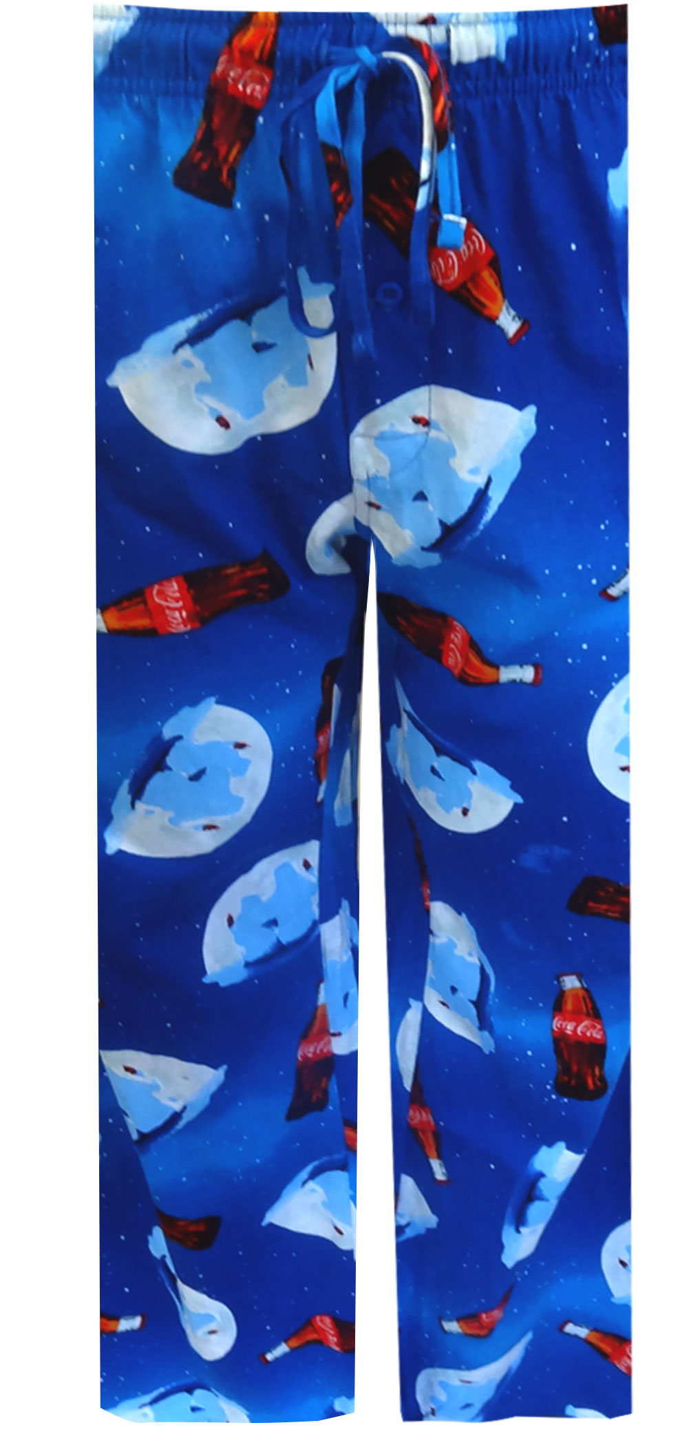 Image of Coca Cola Polar Bears Blue Lounge Pants for men