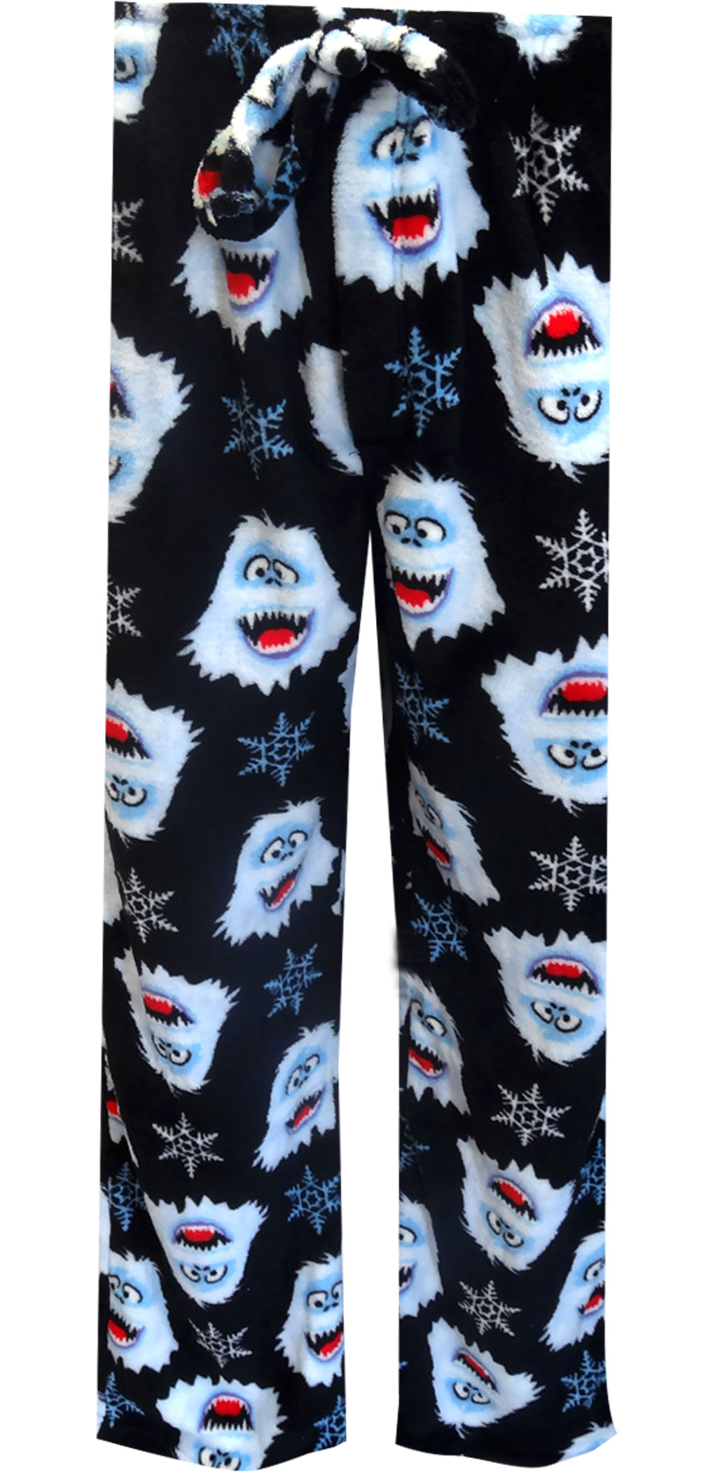 Image of Fleece Rudolph The Red Nosed Reindeer Snowflake Bumble Pajama Pants for Men