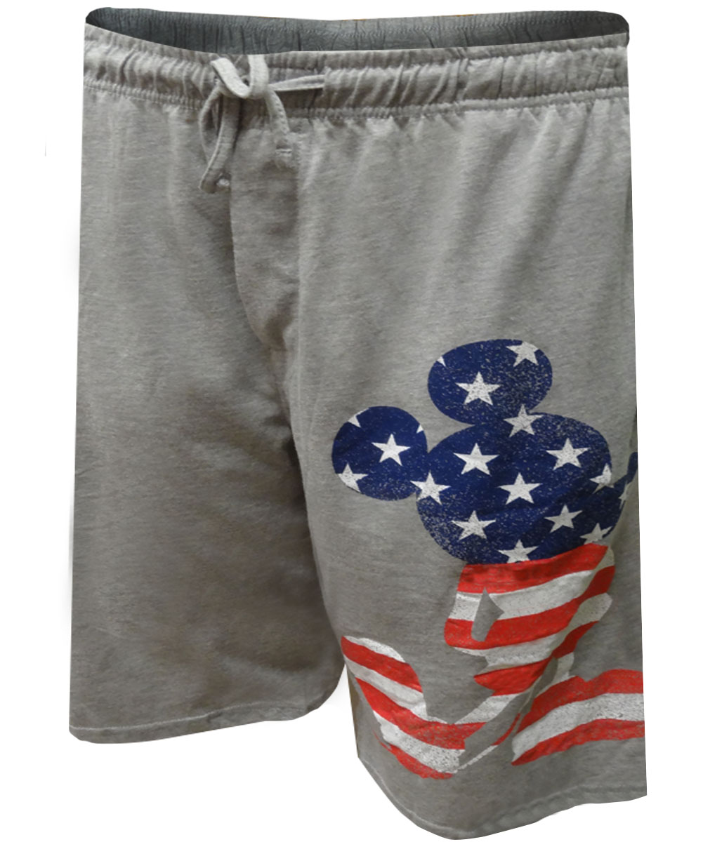 Image of Disney's Patriotic Mickey Mouse Lounge Shorts for men