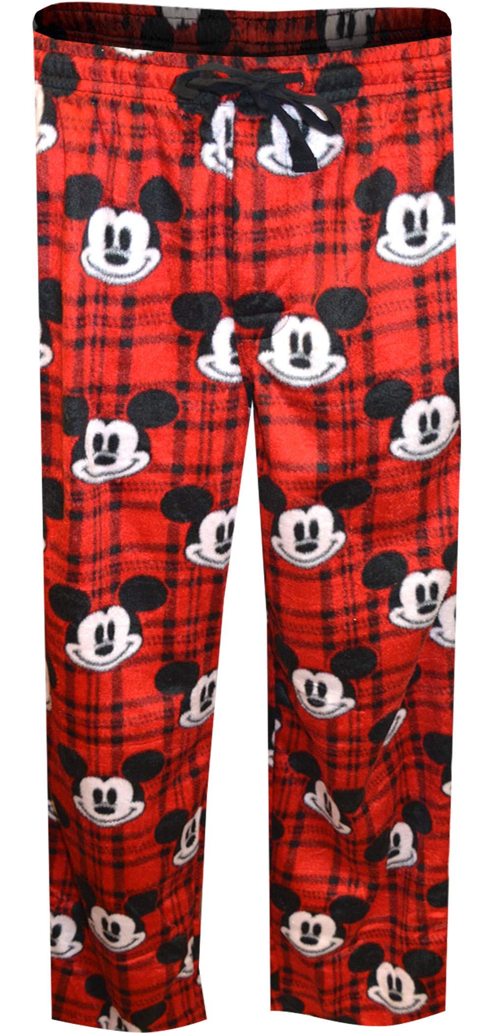 Image of Disney Mickey Mouse Red Plaid Minky Soft Lounge Pants for men