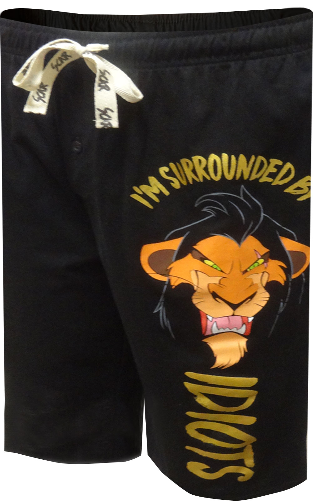 Image of Disney's Lion King Scar Surrounded By Idiots Lounge Shorts for men