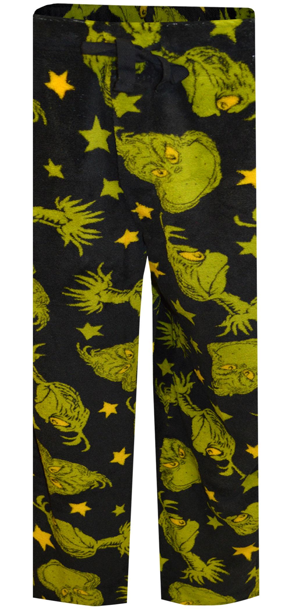 Image of Dr. Seuss The Grinch Plush Lounge Pants for men