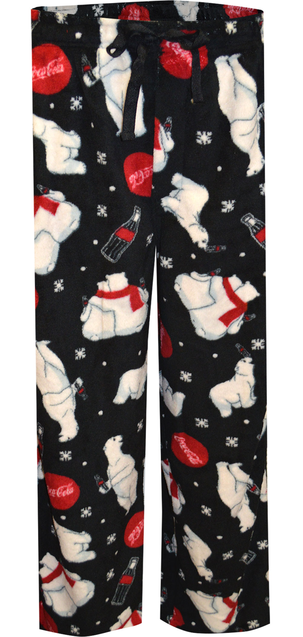 Image of Coca Cola Playful Polar Bears Plush Black Lounge Pants for men