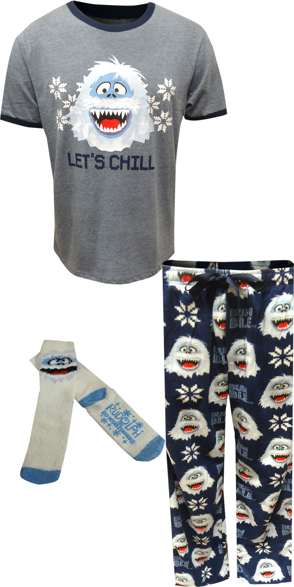 Image of Christmas Rudolph The Red Nosed Reindeer Bumble Pajamas for Men
