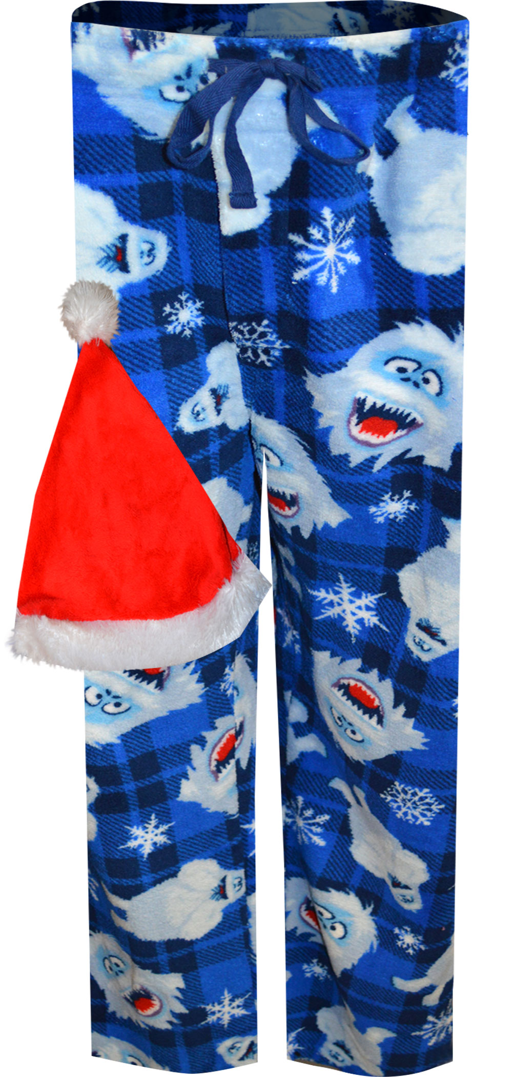 Image of Rudolph The Red-Nosed Reindeer Bumble Plush Lounge Pants with Santa Hat for men