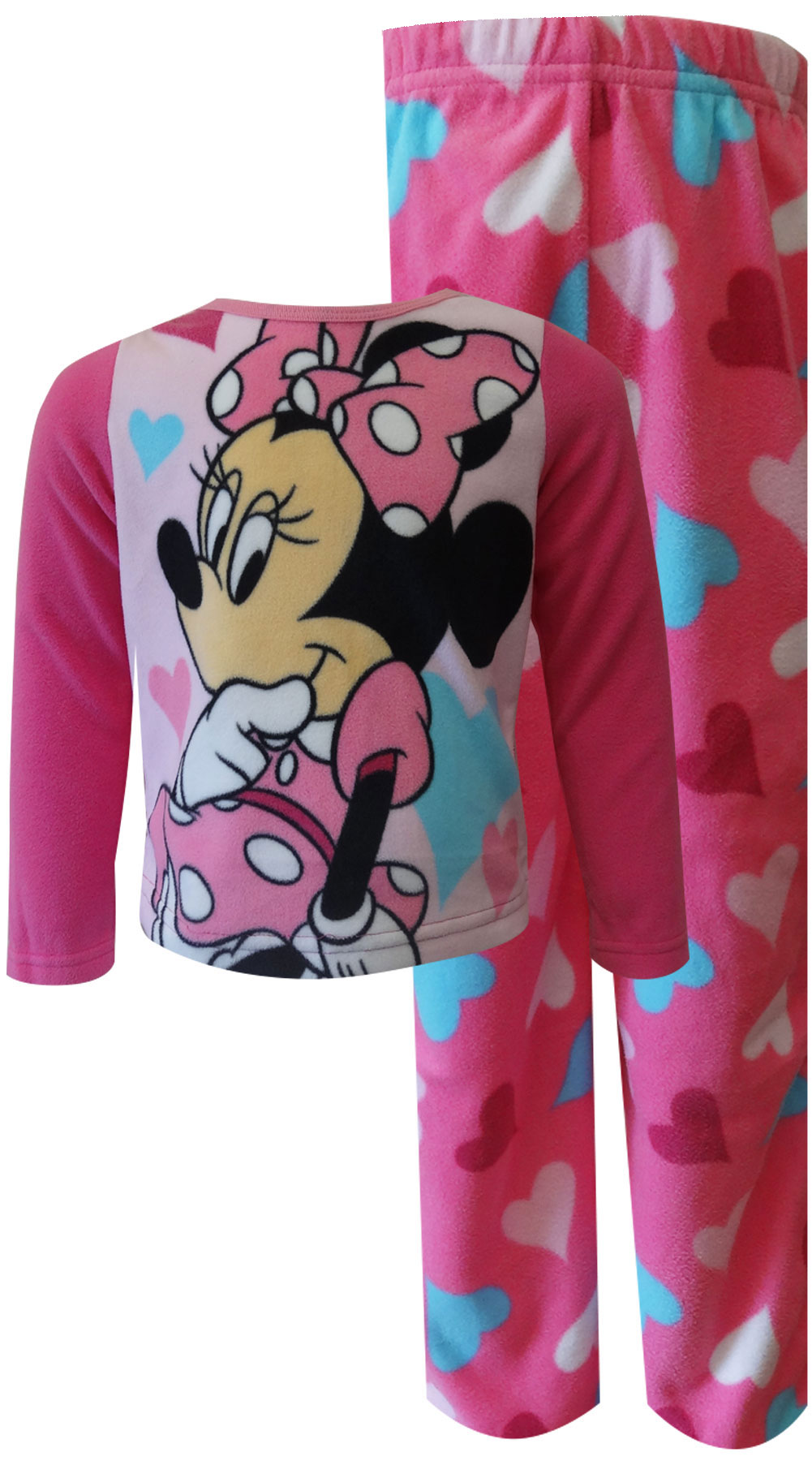Image of Disney Minnie Mouse Pink Fleece Toddler Pajamas for girls