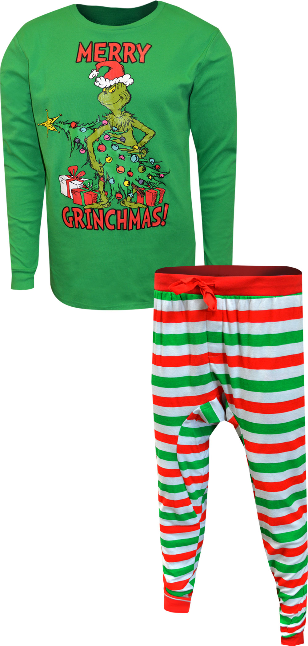 Image of Dr. Seuss Grinch Merry Grinchmas Tall Guys Pajamas for men