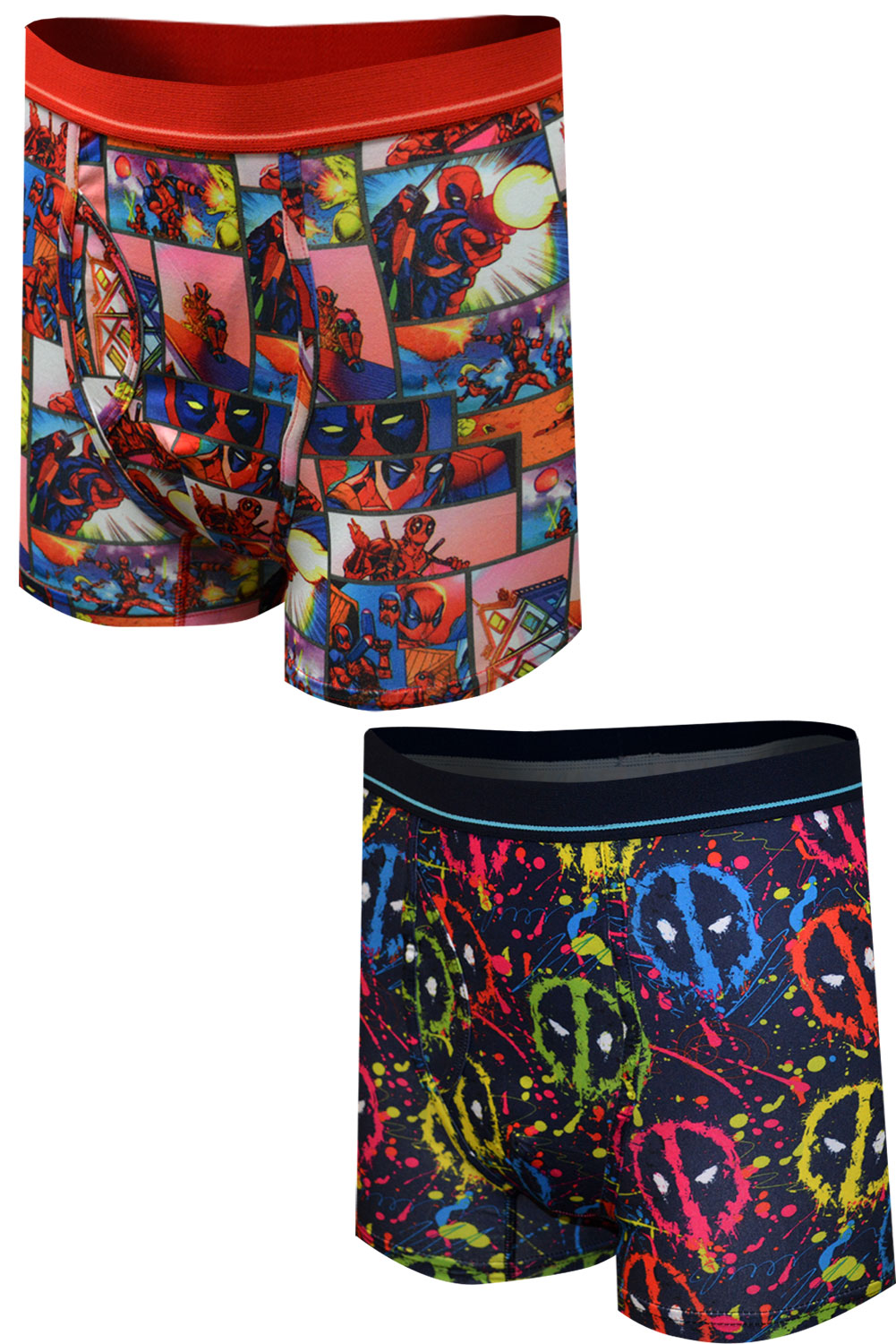 Image of Deadpool Ultra Soft Fabric Guys Boxer Brief 2 Pack for men