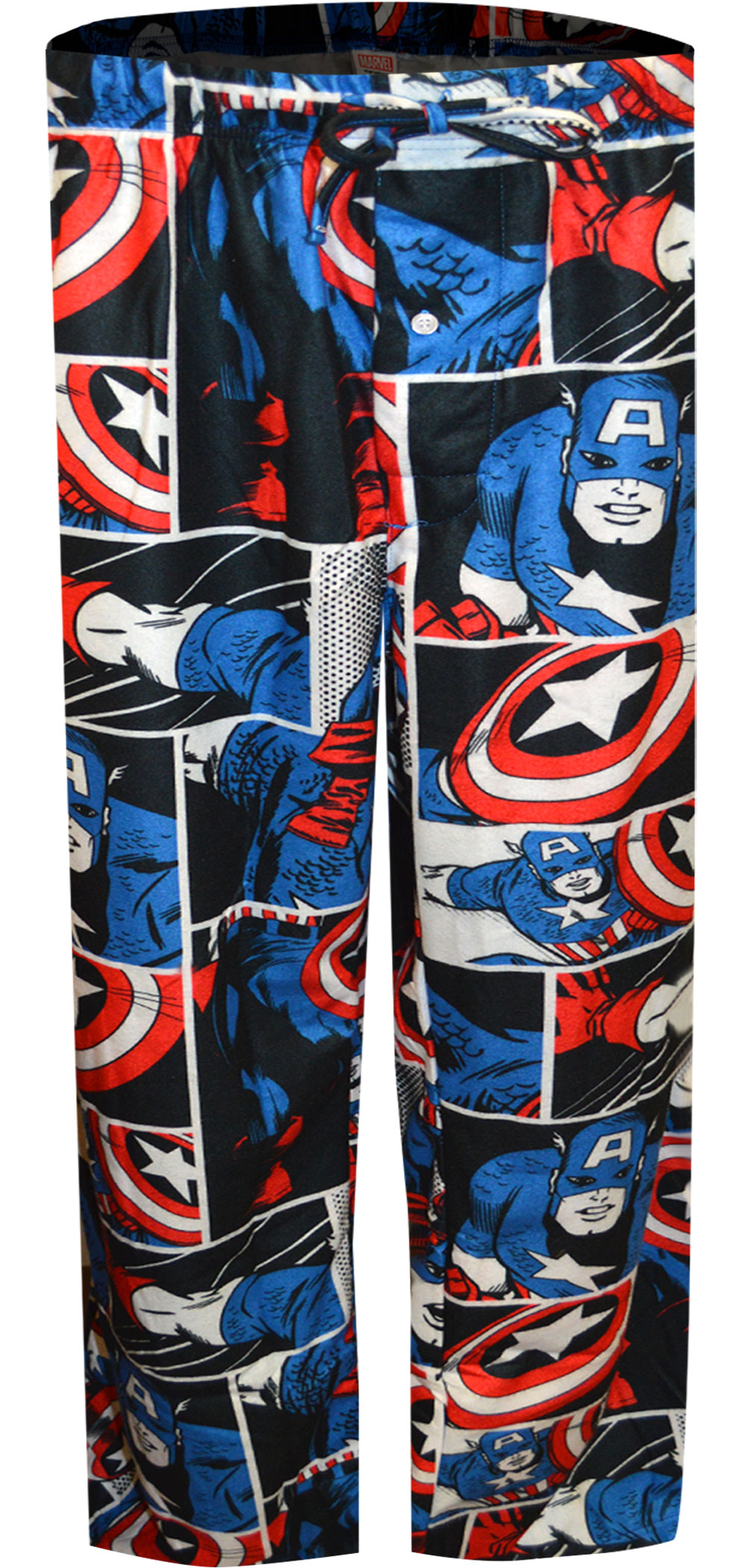 Image of Avengers Captain America Flannel Big and Tall Lounge Pants for men
