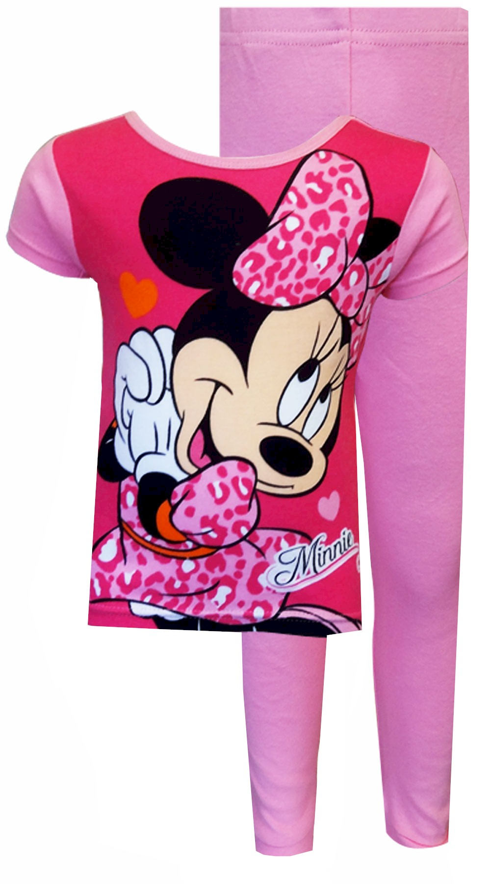 Image of Disney Minnie Mouse Leopard Love Toddler Pajamas for girls