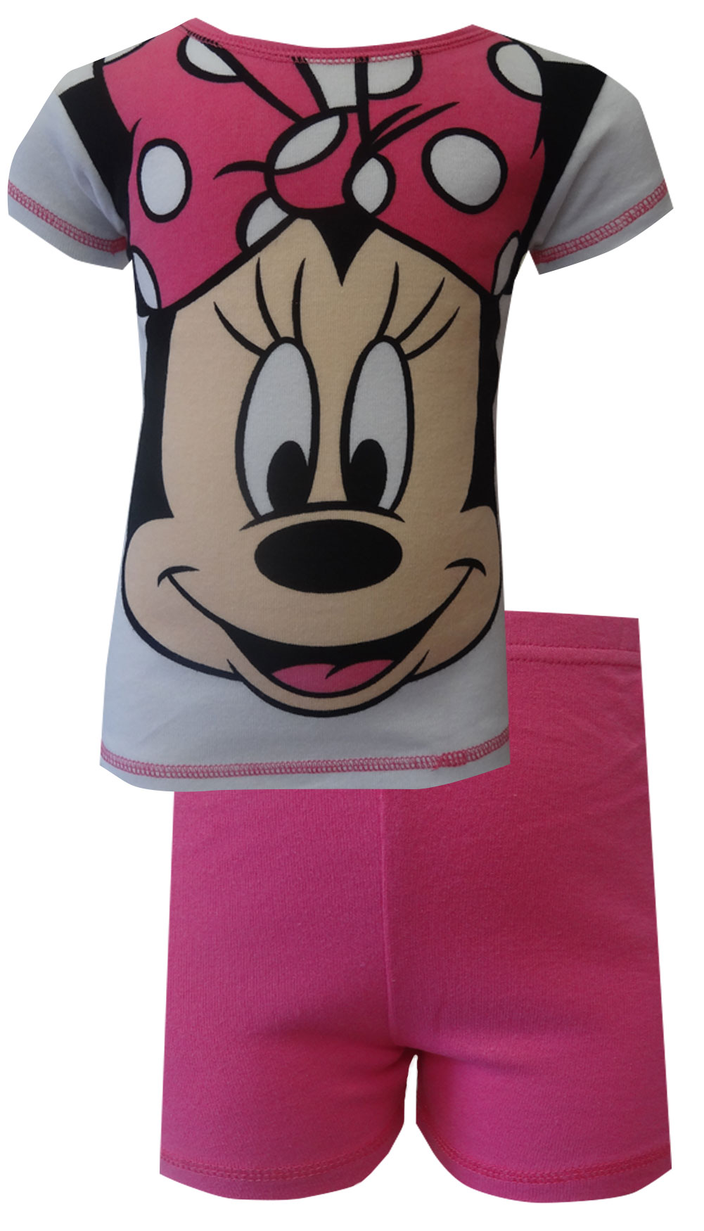 Image of Disney's Minnie Mouse Pink Cotton Shortie Pajama for girls