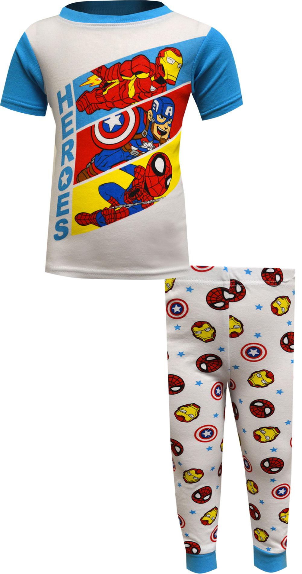 Image of Marvel Comics Avengers Cotton Toddler Pajamas for boys