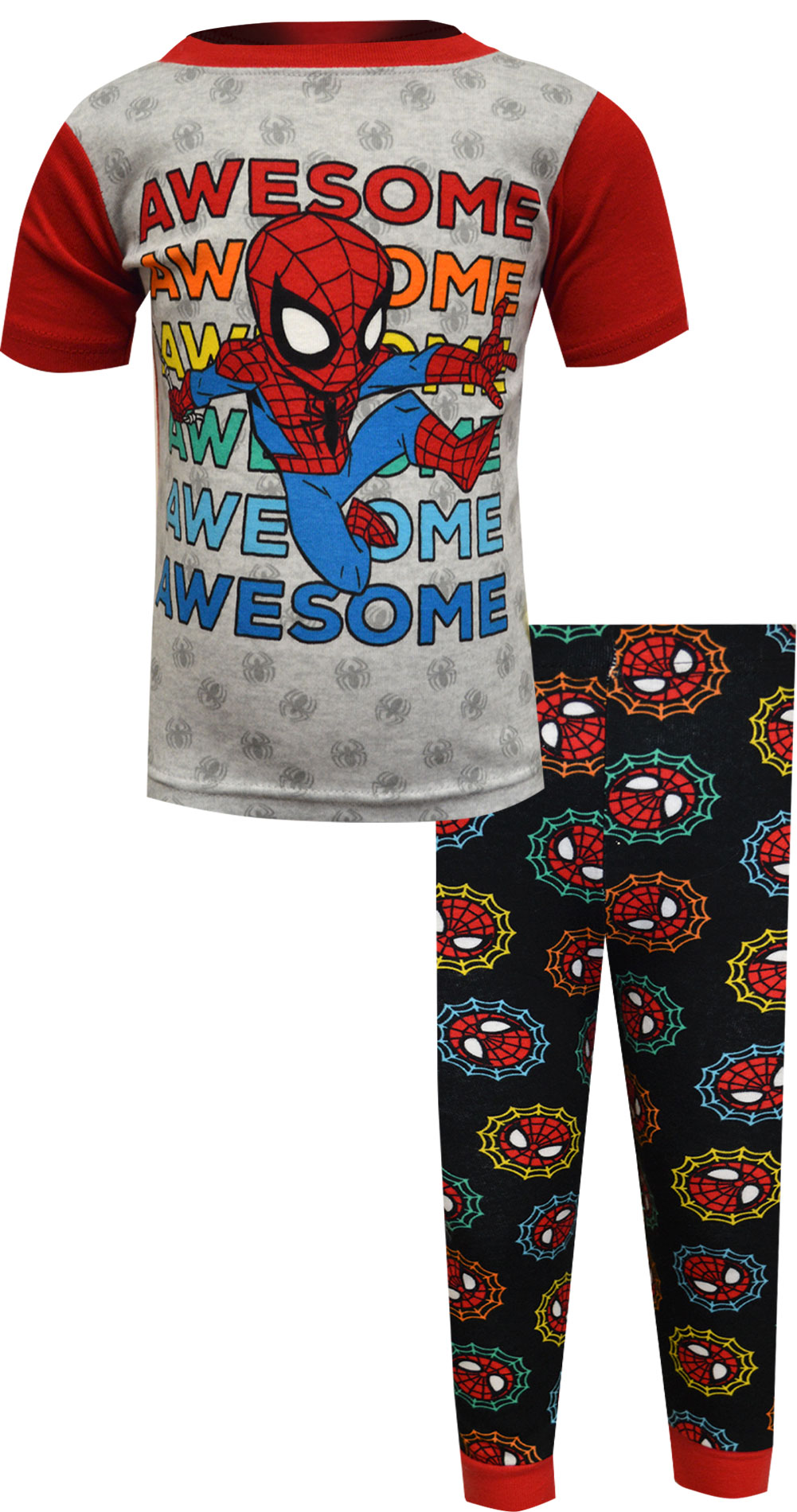 Image of Marvel Comics Spiderman Awesome Spidey Toddler Pajamas for boys