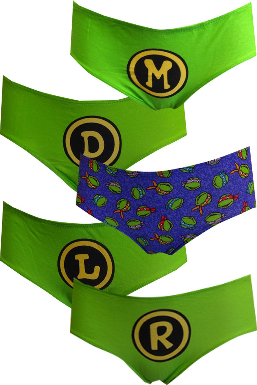 11a1fa0b2fc8e Teenage Mutant Ninja Turtles 5 Pack Hipster Panties Size Large
