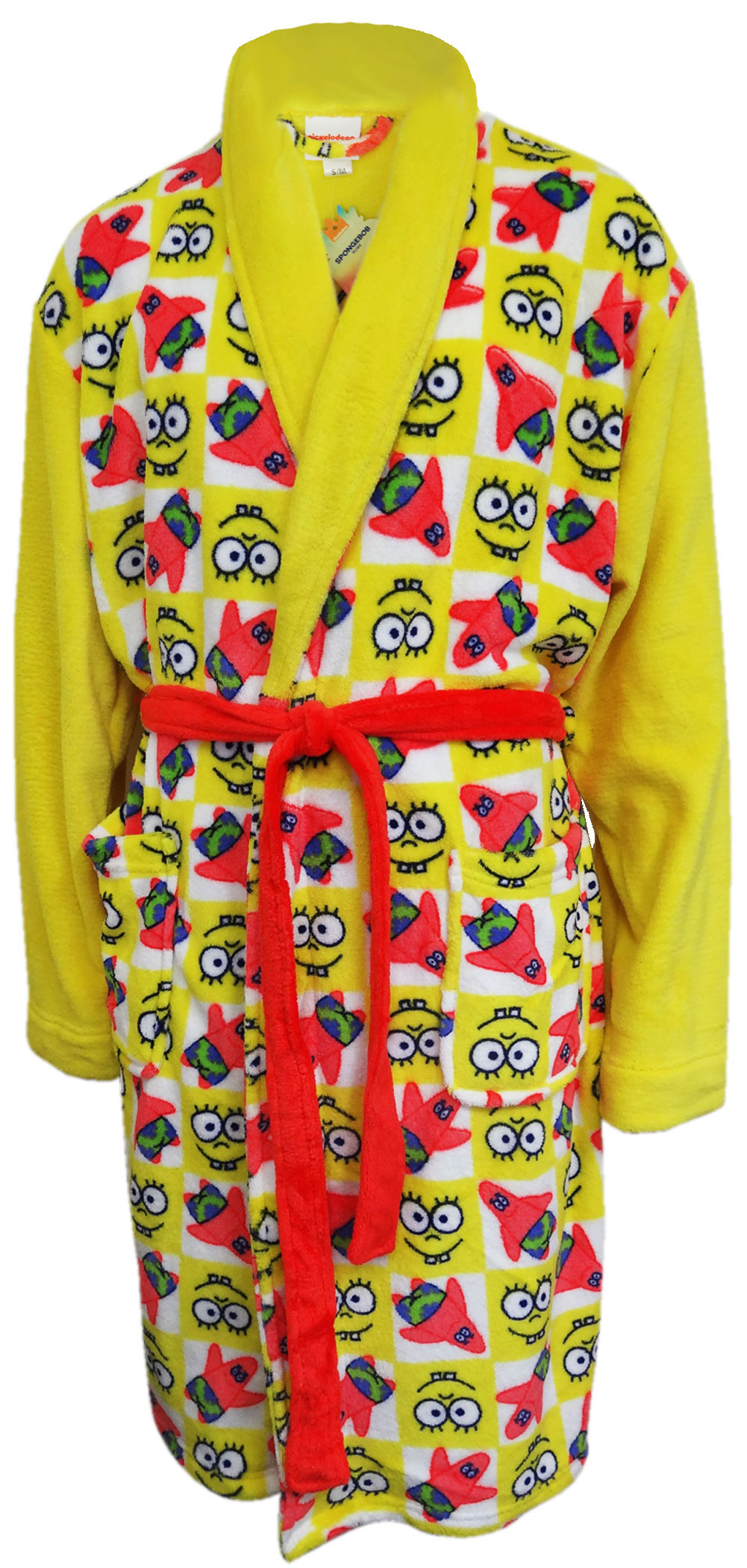 Image of SpongeBob Squarepants Adult Plush Robe for men