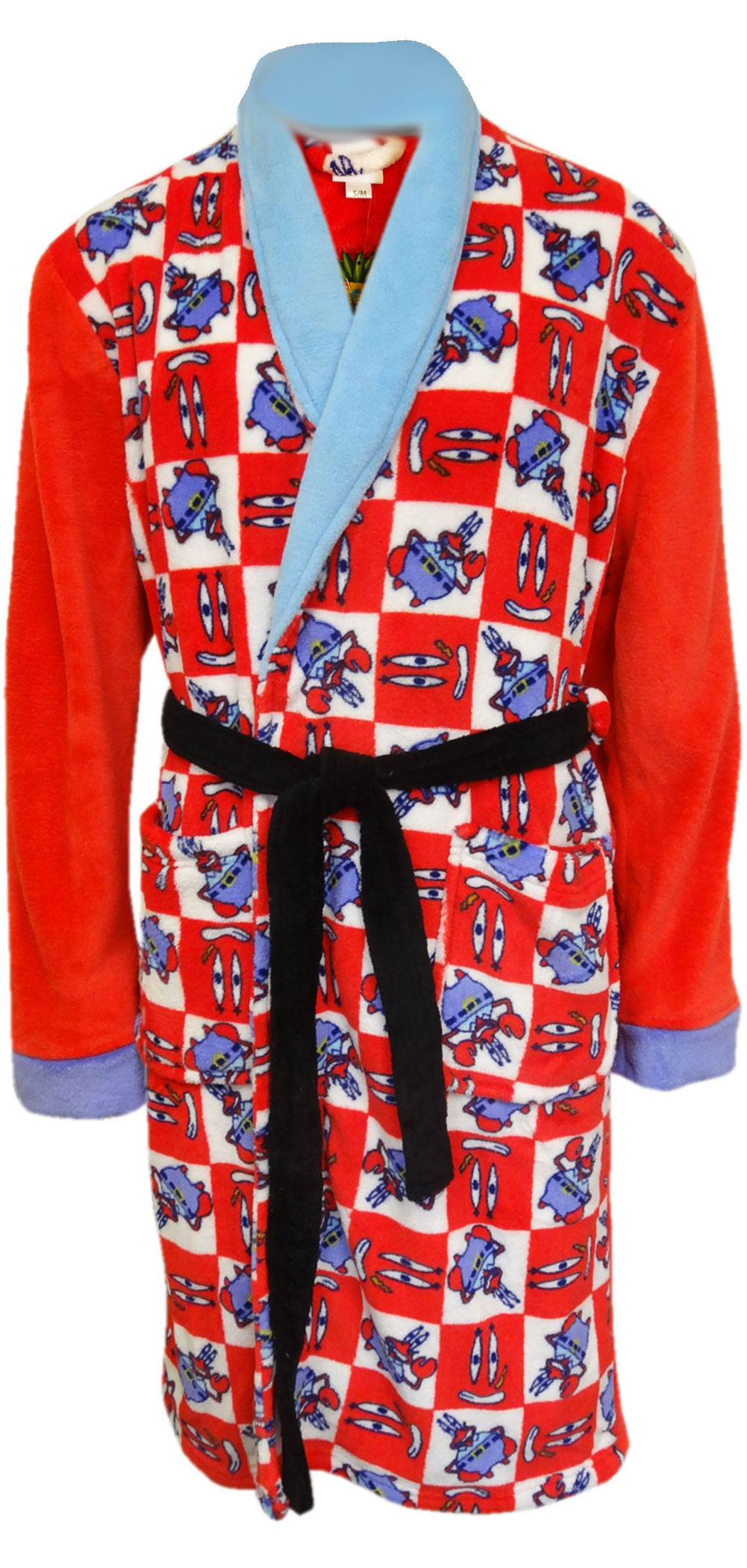 Image of SpongeBob's' Mr. Krabs Adult Plush Robe for men
